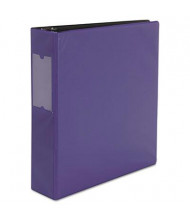 "Universal 2"" Capacity 8-1/2"" x 11"" Round Ring with Label Holder Non-View Binder, Royal Blue"
