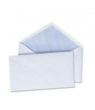 "Universal 3-5/8"" x 6-1/2"" V-Flap #6-3/4 Security Envelope, White, 250/Box"