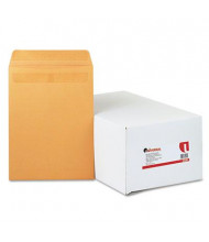 """Universal One 9-1/2"""" x 12-1/2"""" Self-Stick #93 Open End File-Style Envelope, Brown, 250/Box"""