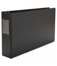 """Universal 3"""" Capacity 11"""" x 17"""" Round Ring Wide Base with Label Holder Non-View Binder, Black"""
