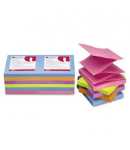 "Universal One 3"" X 3"", 12 100-Sheet Pads, Bright Color Pop-Up Notes"
