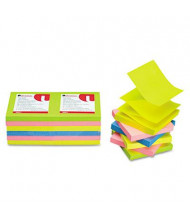 "Universal One 3"" X 3"", 12 100-Sheet Pads, Neon Pop-Up Notes"