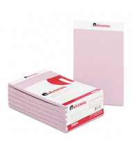 "Universal 5"" X 8"" 50-Sheet 12-Pack Narrow Rule Notepads, Orchid Paper"
