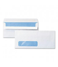 "Universal One 4-1/8"" x 9-1/2"" Self-Seal #10 Security Tint Window Business Envelope, White, 500/Box"