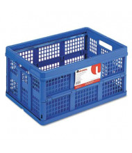 "Universal 14-5/8"" D Letter Filing Tote Storage Box, Blue"