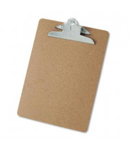 "Universal 1-1/4"" Capacity 8-1/2"" x 11"" Hardboard Clipboard, Brown"
