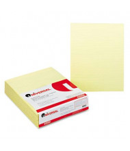 "Universal 8-1/2"" X 11"" 50-Sheet 12-Pack Narrow Rule Notepads, Canary Paper"