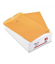 "Universal 9-1/2"" x 12-1/2"" Side Seam #93 32lb Kraft Clasp Envelope, Light Brown, 100/Box"