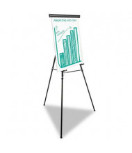 "Universal One 43034 Heavy Duty 69"" H Presentation Easel Stand, Black"