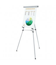 "Universal 43050 Lightweight 34"" to 64"" H Telescoping Tripod Easel Stand, Silver"
