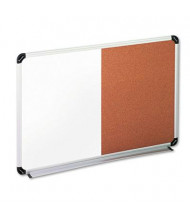 Universal 2' x 1.5' Cork Bulletin and Melamine Combination Whiteboard