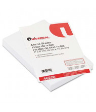 "Universal 4"" x 6"", 200-Sheets, Loose White Memo Paper"