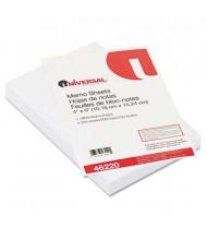 "Universal 4"" x 6"", 200-Sheets, Loose White Memo Paper"