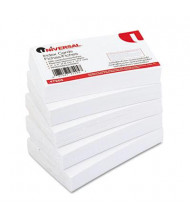 "Universal 3"" x 5"", 500-Cards, White Unruled Recycled Index Cards"