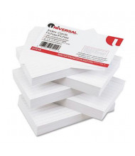 "Universal 3"" x 5"", 500-Cards, White Ruled Recycled Index Cards"