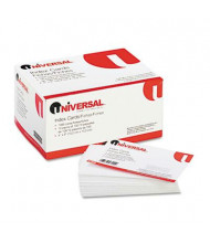 "Universal 4"" x 6"", 100-Cards, White Unruled Recycled Index Cards"