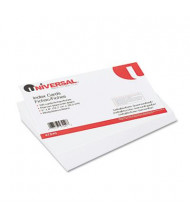 "Universal 5"" x 8"", 100-Cards, White Unruled Recycled Index Cards"