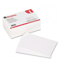"Universal 5"" x 8"", 500-Cards, White Unruled Recycled Index Cards"