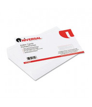 "Universal 5"" x 8"", 100-Cards, White Ruled Recycled Index Cards"