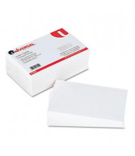 "Universal 5"" x 8"", 500-Cards, White Ruled Recycled Index Cards"