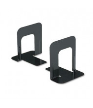 "Universal 5"" H Economy Nonskid Heavy Gauge Steel Bookends, Black"