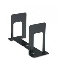 "Universal 9"" H Economy Standard Heavy Gauge Steel Bookends, Black"