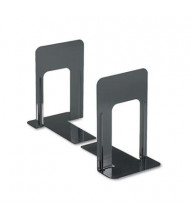 "Universal 9"" H Economy Nonskid Heavy Gauge Steel Bookends, Black"