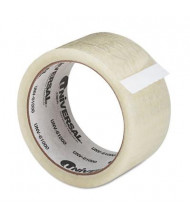 "Universal 2"" x 55 yds Clear Corru-Grip Box Sealing Tape, 3"" Core, 6-Pack"