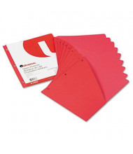 "Universal 8-1/2"" x 11"" Slash-Cut Pockets for Three-Ring Binders, Red, 10/Pack"