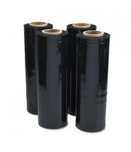 "Universal 18"" x 500 ft. 80-Gauge Handwrap Stretch Film, Black, 4 Rolls/Carton"