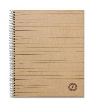 "Universal One 8-1/2"" X 11"" 100-Sheet College Rule Wirebound Sugarcane Notebook, Brown Cover"