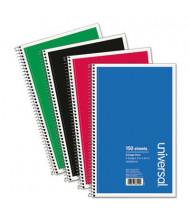 """Universal 6"""" X 9-1/2"""" 150-Sheet College Rule Wirebound Notebook"""