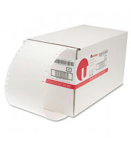 "Universal 4"" x 1-15/16"" Dot Matrix Printer Labels, White, 5000/Box"