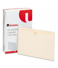 Universal Flat Expansion Legal File Jackets, Manila, 100/Box