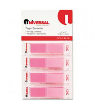 """Universal One 1/2"""" x 1 7/10"""" Pop-Up Page Flags, Pink, 140/Pack"""