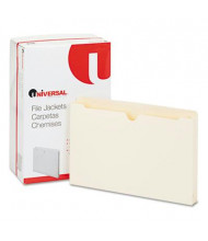 "Universal 1-1/2"" Expansion Legal File Jackets, Manila, 50/Box"