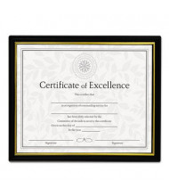 "Universal 8.5"" W x 11"" H Document Frames, Black, 3-Pack"