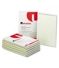 "Universal 6"" X 9"" 70-Sheet Gregg Rule Steno Notepad, Green Paper"