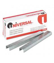 "Universal 20-Sheet Capacity Standard Chisel Point Staples, 1/4"" Leg, 5000/Box"