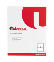 "Universal 5-1/2"" x 8-1/2"" Inkjet and Laser Printer Labels, White, 200/Pack"