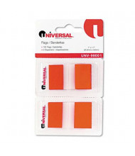 "Universal One 1"" x 1-3/4"" Pop-Up Page Flags, Red, 100 Flags/Pack"