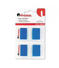 "Universal One 1"" x 1-3/4"" Pop-Up Page Flags, Blue, 100 Flags/Pack"