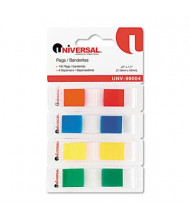 "Universal One 1/2"" x 1-3/4"" Pop-Up Page Flags, Assorted, 140 Flags/Dispenser"