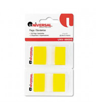 "Universal One 1"" x 1-3/4"" Pop-Up Page Flags, Yellow, 100 Flags/Pack"