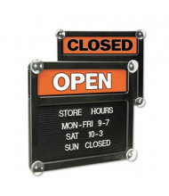 Headline Sign Double-Sided Open/Closed Sign with Message Area