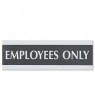 "Headline Century 9"" W x 3"" H Employees Only Office Sign"