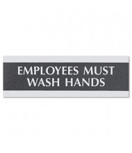 "Headline Century 9"" W x 3"" H ""Employees Must Wash Hands"" Office Sign"