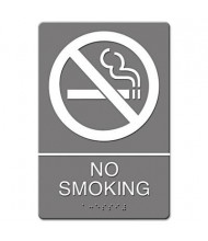 "Headline 6"" W x 9"" H No Smoking ADA Sign"