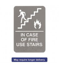 "Headline 6"" W x 9"" H In Case Of Fire Use Stairs ADA Sign"