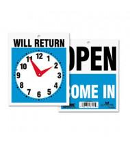 "Headline 7.5"" W x 9"" H Open/Will Return Sign"